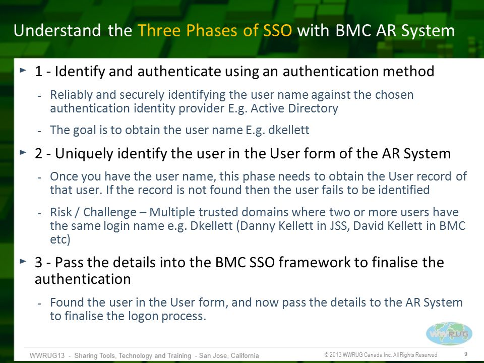 Understand the Three Phases of SSO with BMC AR System