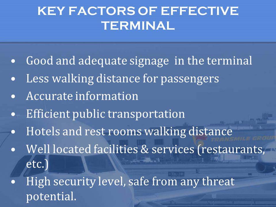 KEY FACTORS OF EFFECTIVE TERMINAL