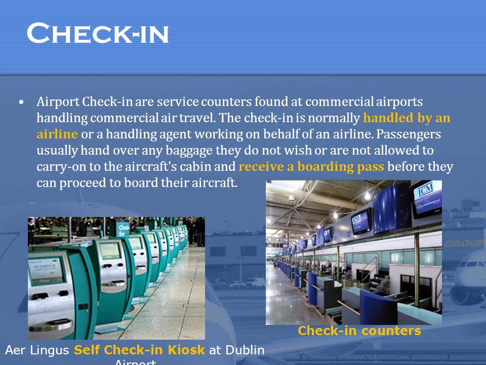 Aer Lingus Self Check-in Kiosk at Dublin Airport