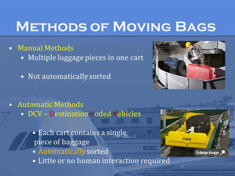 Methods of Moving Bags Manual Methods