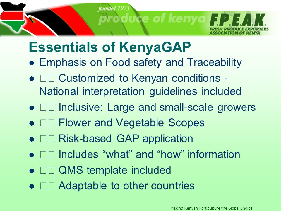 Essentials of KenyaGAP