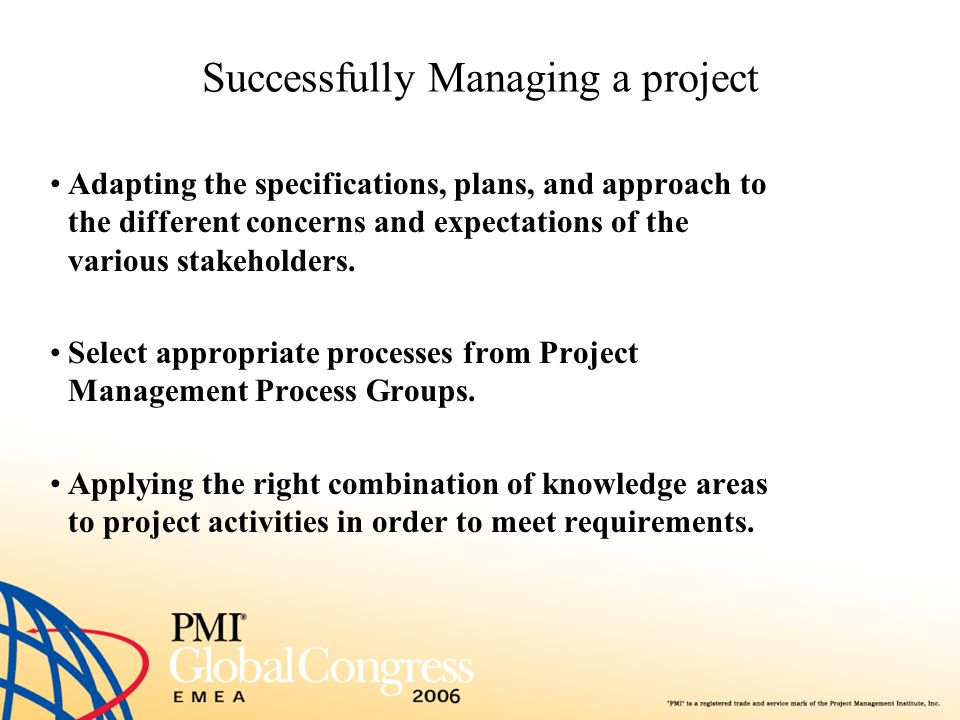 Successfully Managing a project