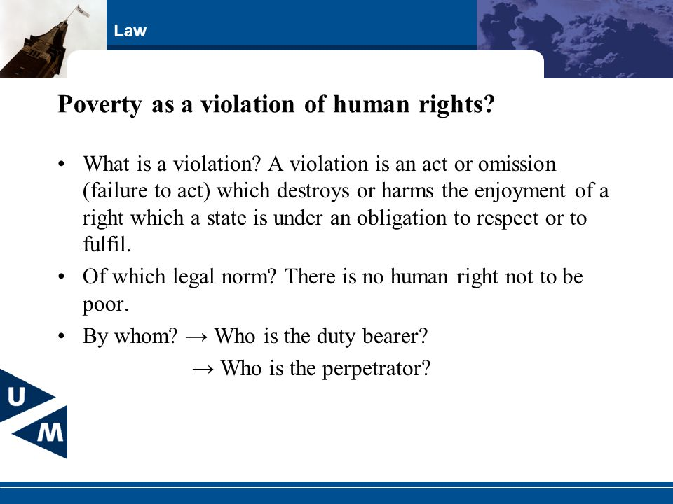 Poverty as a violation of human rights