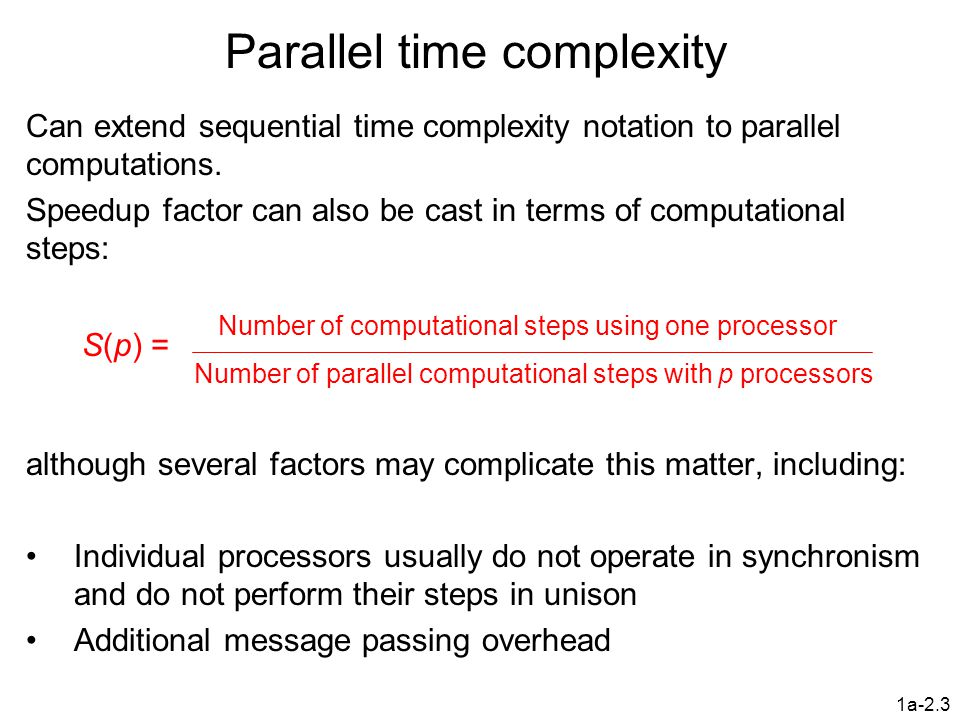 Parallel time complexity