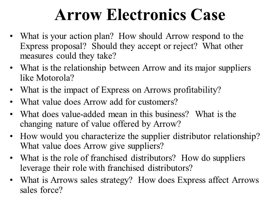 Arrow Electronics Case