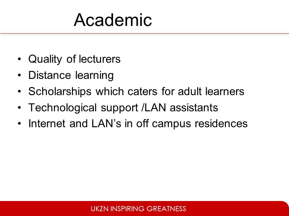 Academic Quality of lecturers Distance learning