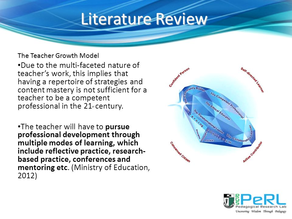 Literature Review The Teacher Growth Model.