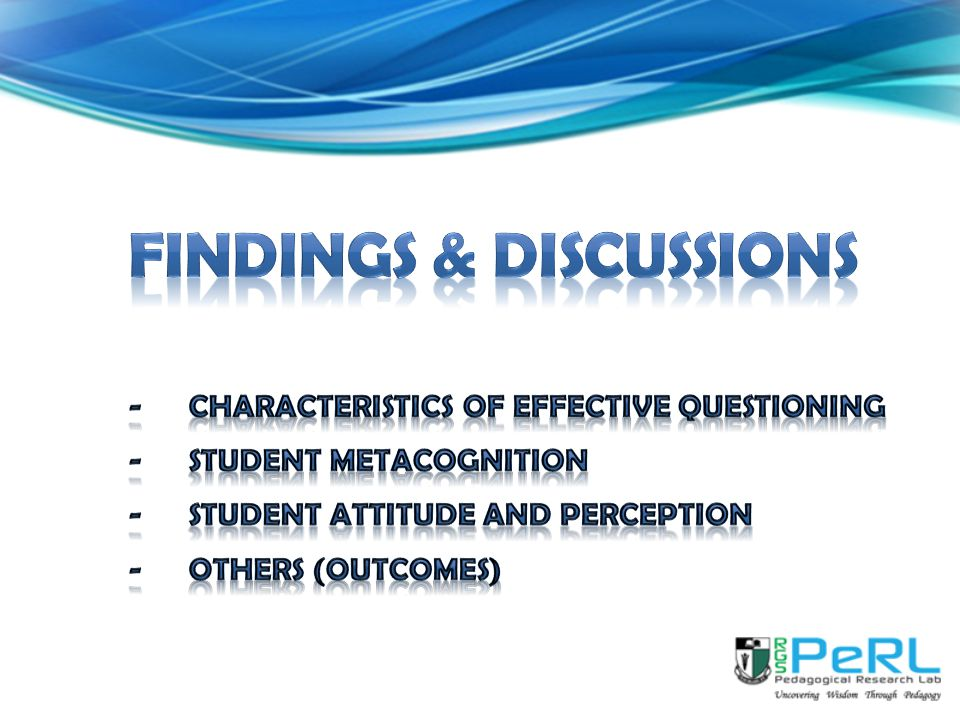 fINDINGS & DISCUSSIONs