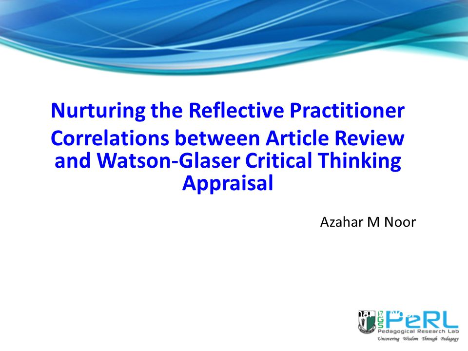Watson glaser critical thinking appraisal test download