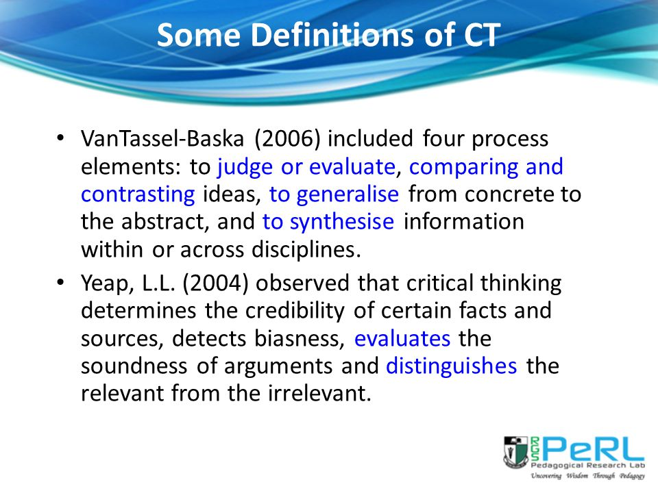 Some Definitions of CT