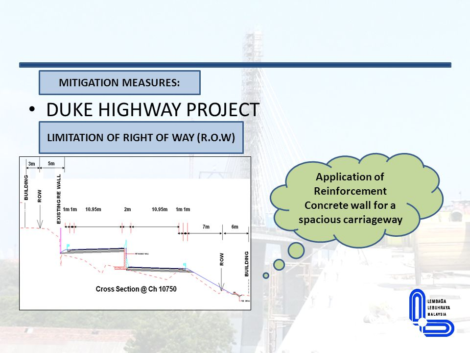 DUKE HIGHWAY PROJECT MITIGATION MEASURES: