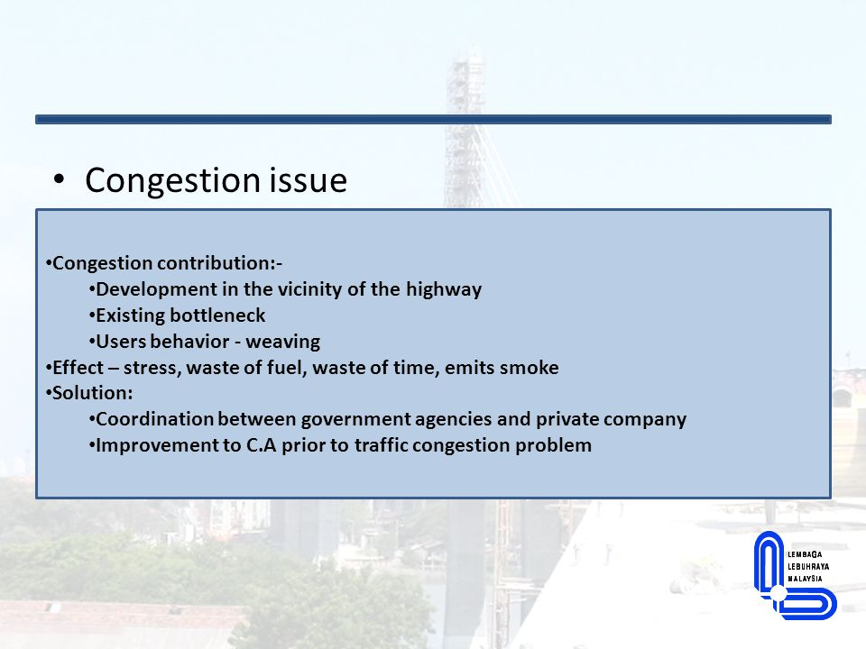 Congestion issue Congestion contribution:-
