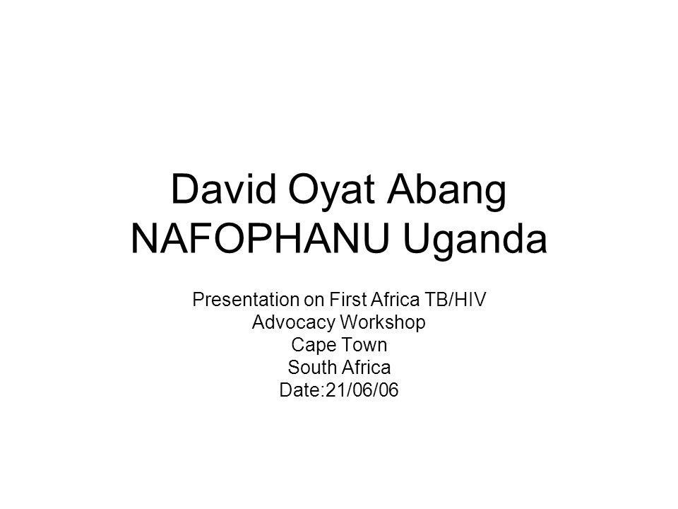 David Oyat Abang NAFOPHANU Uganda