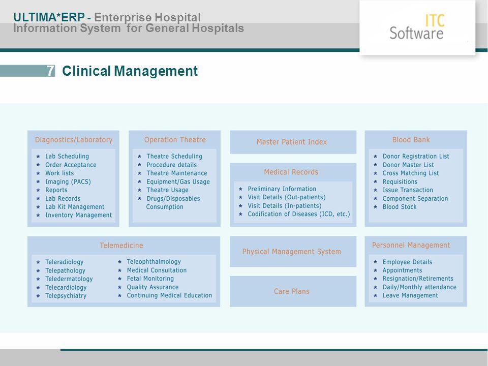 7 Clinical Management ULTIMA*ERP - Enterprise Hospital