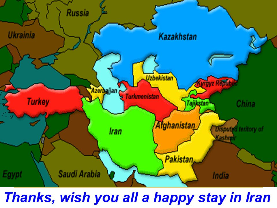 Thanks, wish you all a happy stay in Iran