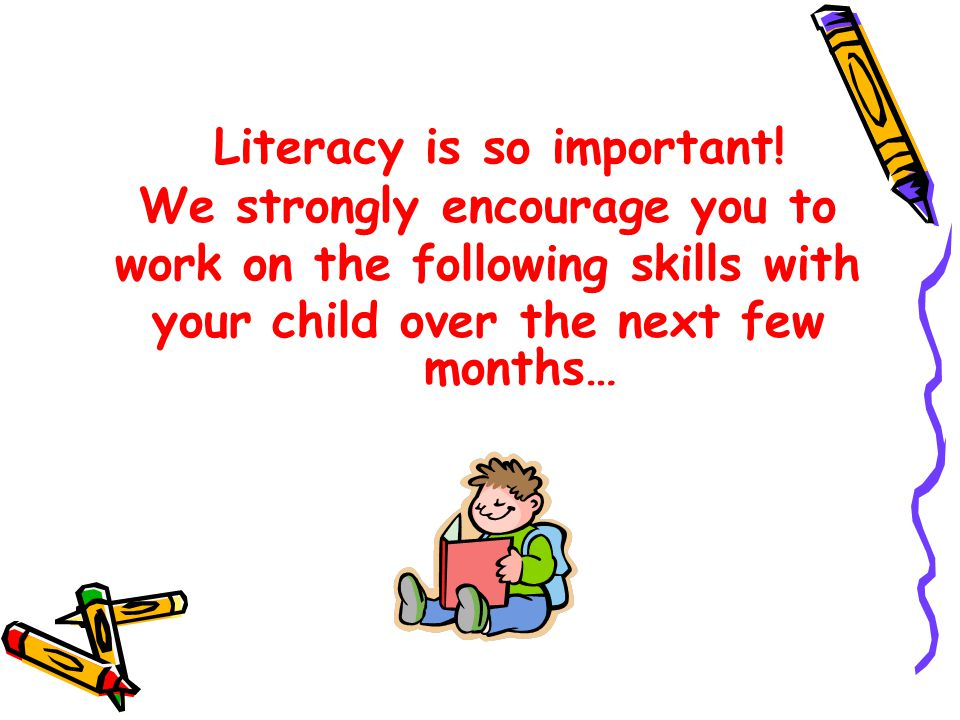 Literacy is so important!