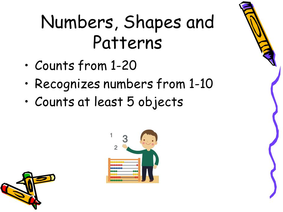 Numbers, Shapes and Patterns