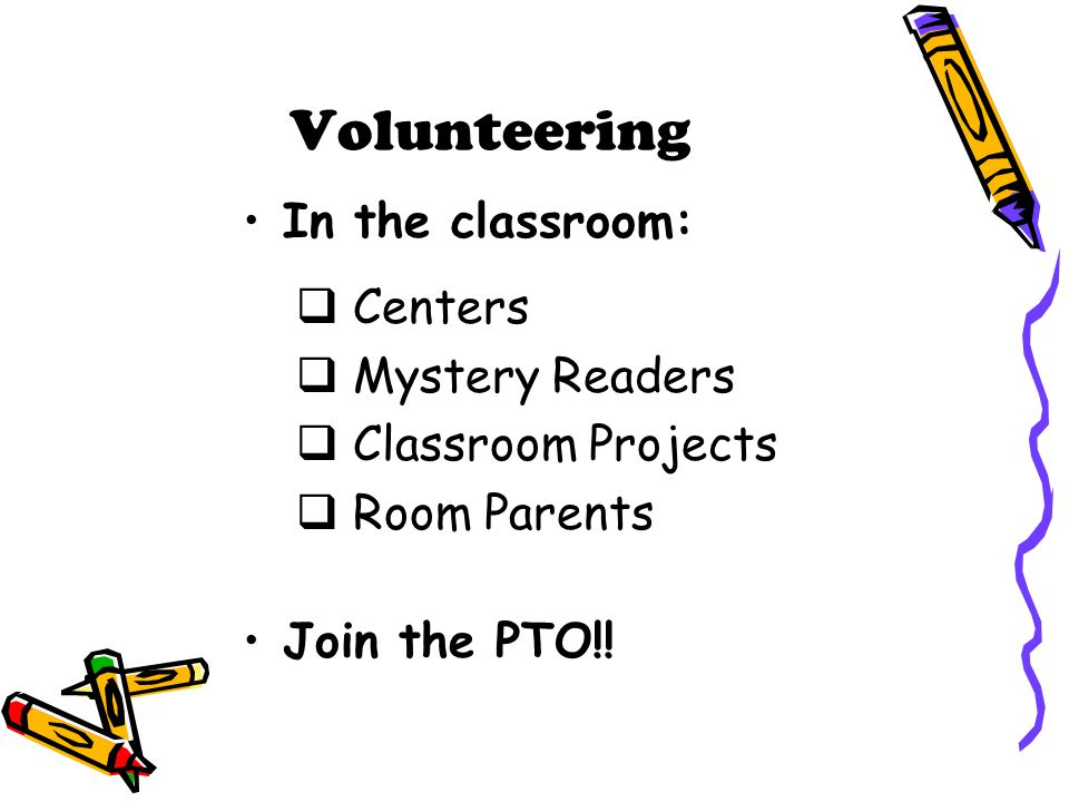Volunteering In the classroom: Centers Mystery Readers