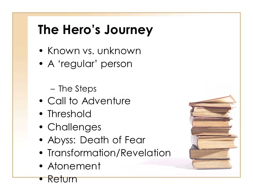 The Hero's Journey Known vs. unknown A 'regular' person