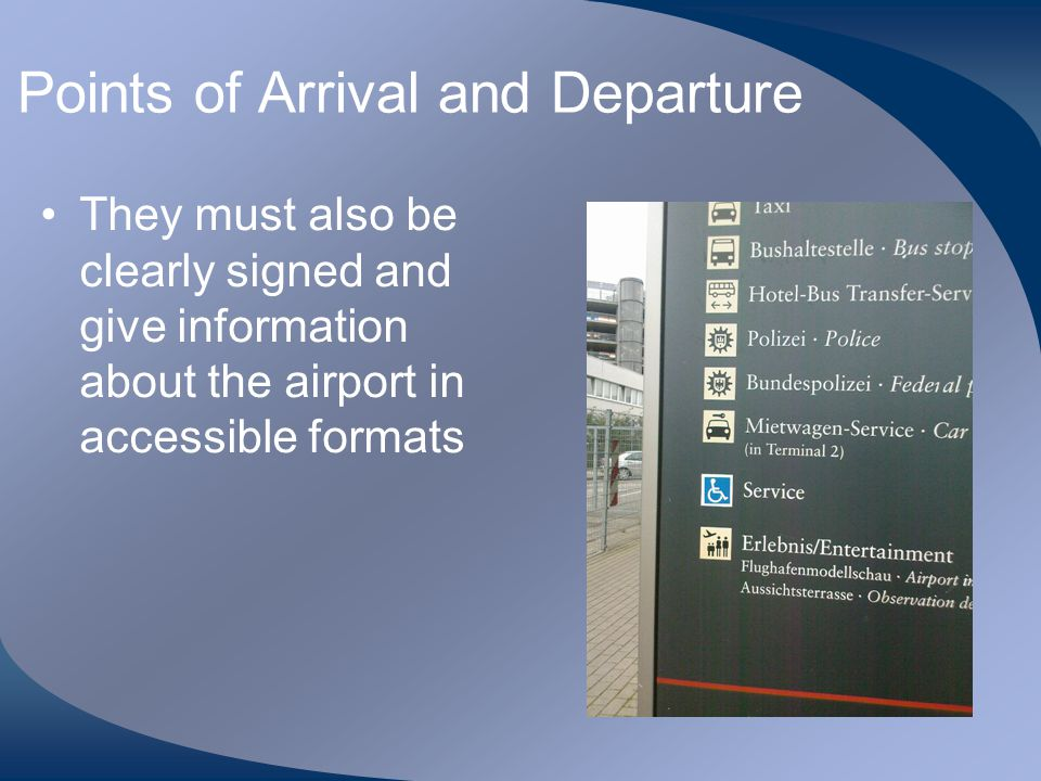 Points of Arrival and Departure