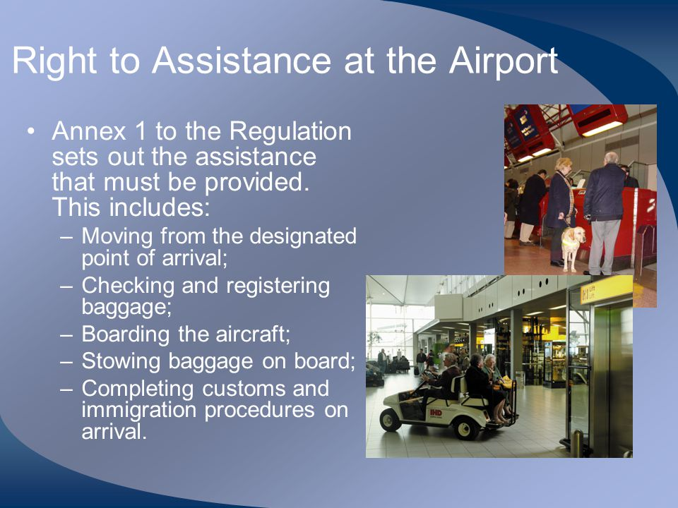 Right to Assistance at the Airport