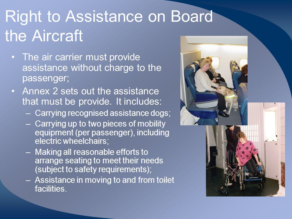 Right to Assistance on Board the Aircraft