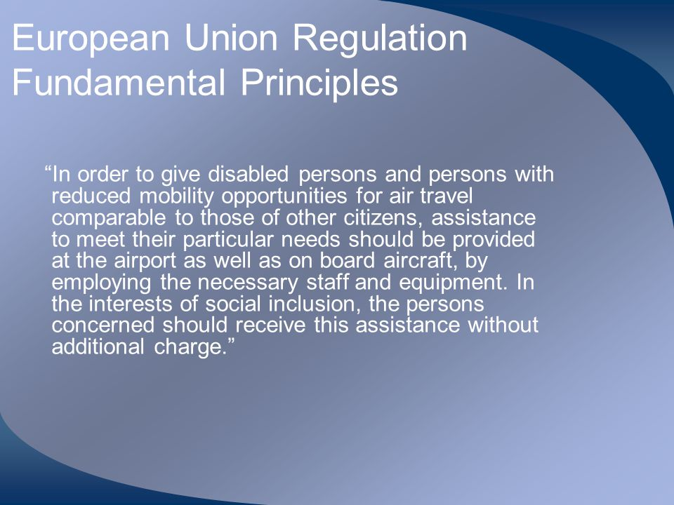 European Union Regulation Fundamental Principles