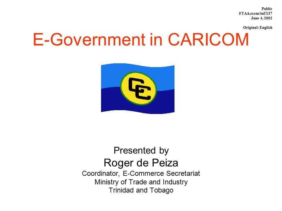 E-Government in CARICOM