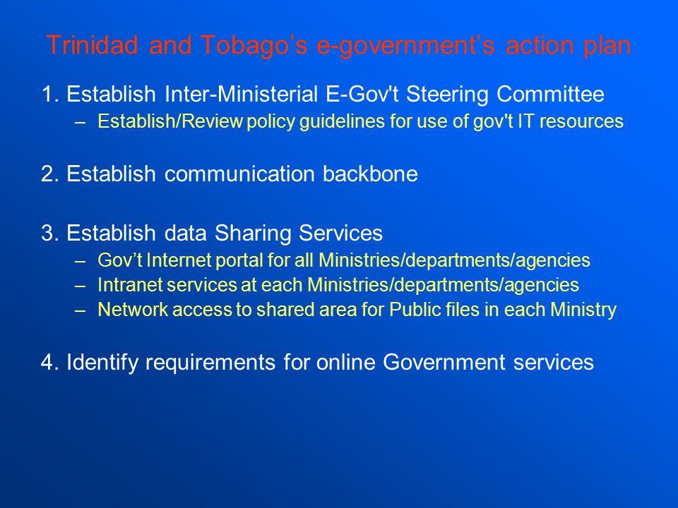Trinidad and Tobago's e-government's action plan