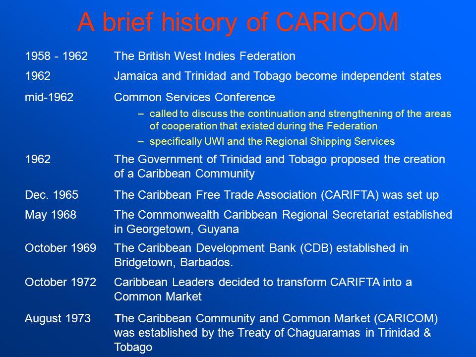 A brief history of CARICOM