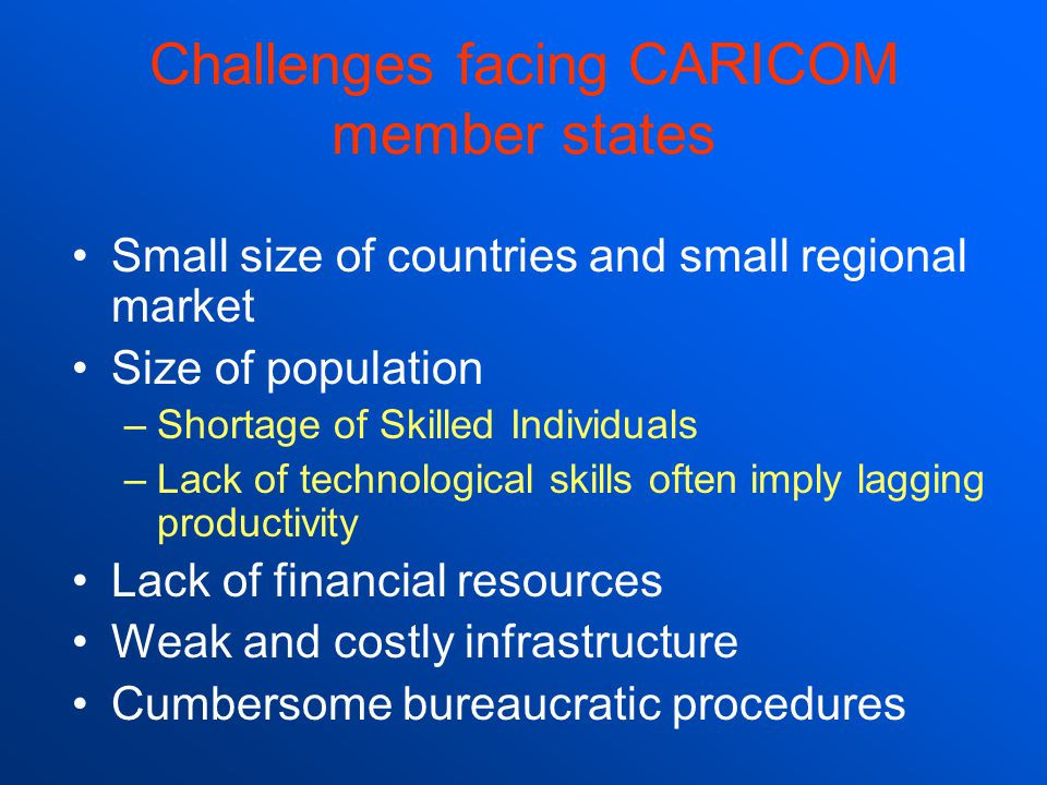 Challenges facing CARICOM member states