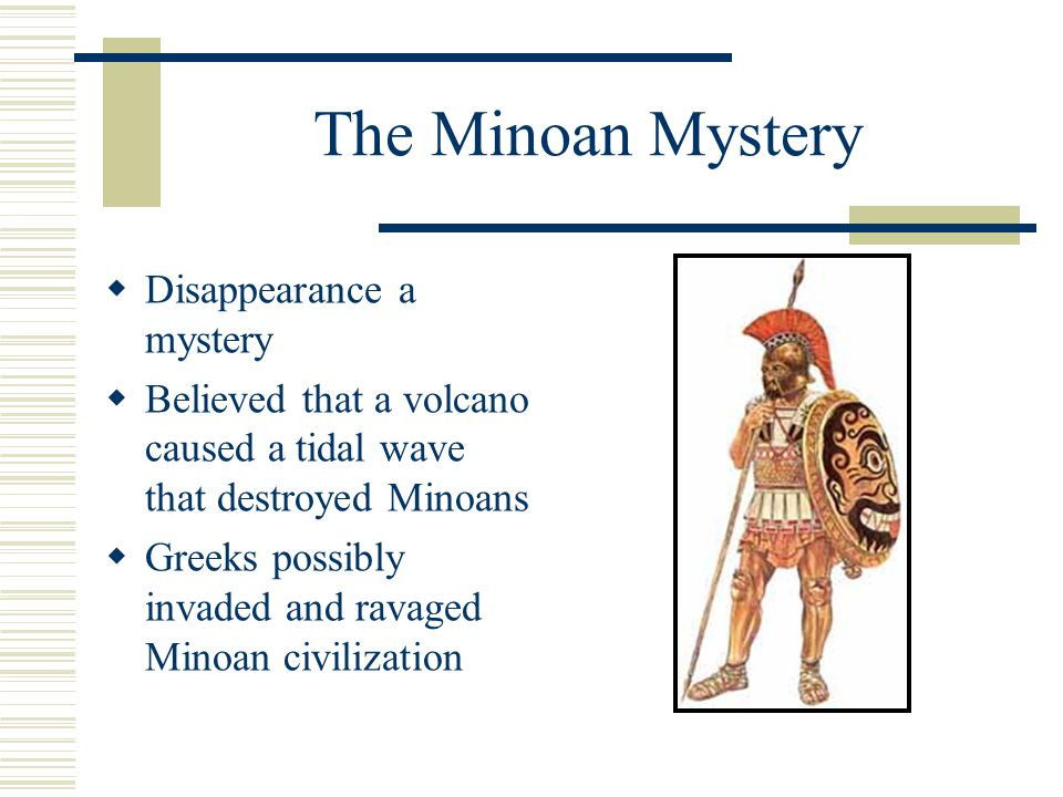 The Minoan Mystery Disappearance a mystery