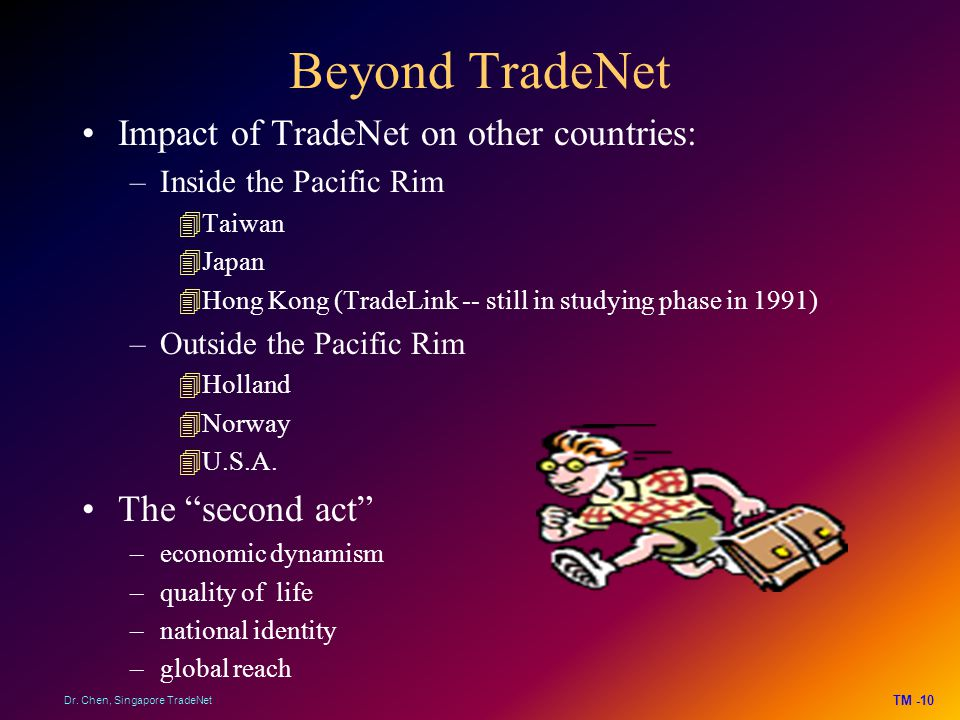 Beyond TradeNet Impact of TradeNet on other countries: