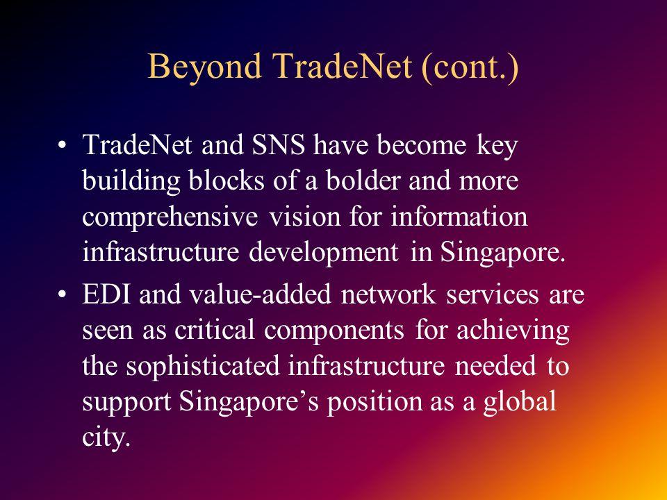 Beyond TradeNet (cont.)