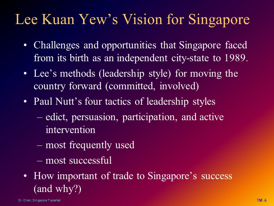 Lee Kuan Yew's Vision for Singapore