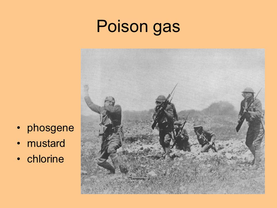 Poison gas phosgene mustard chlorine First Use by the French