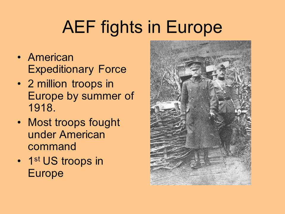 AEF fights in Europe American Expeditionary Force