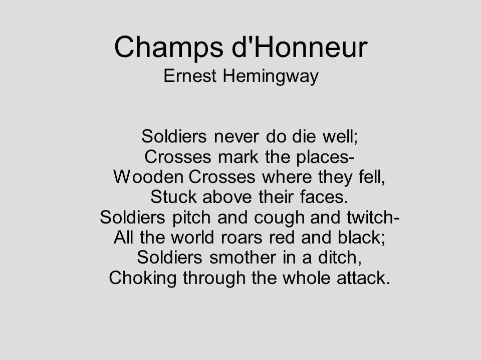Champs d Honneur Ernest Hemingway