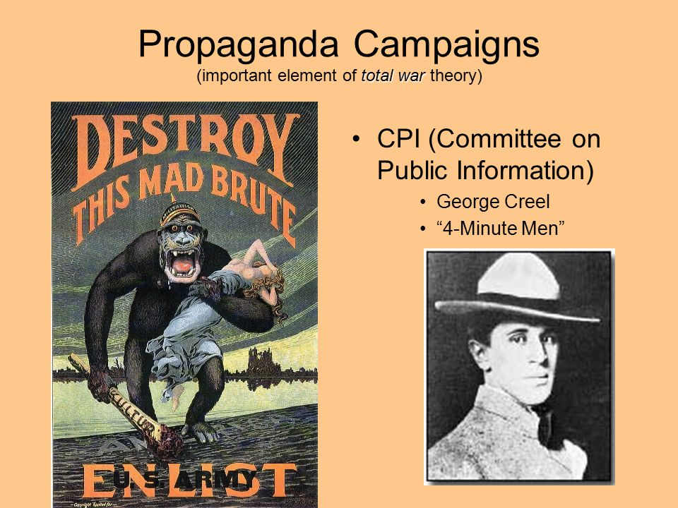 Propaganda Campaigns (important element of total war theory)