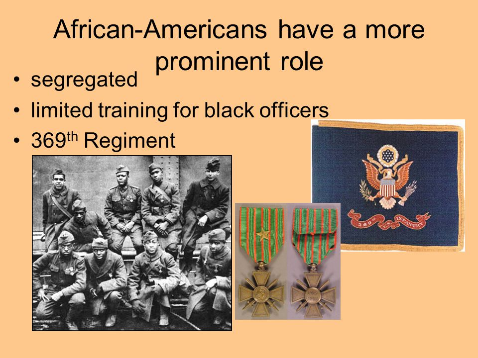 African-Americans have a more prominent role