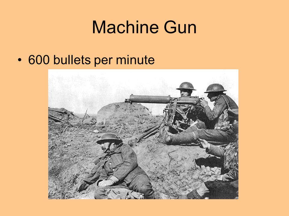 Machine Gun 600 bullets per minute