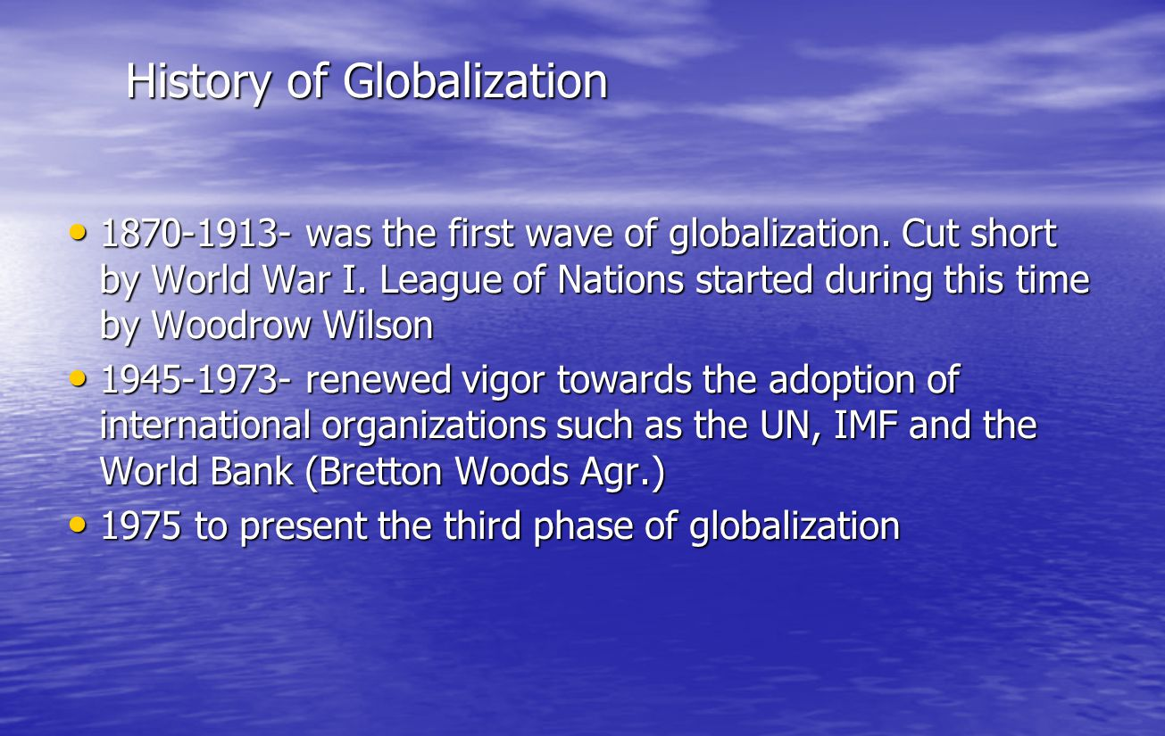 GLOBALIZATION AND THE DEVELOPMENT OF UNDERDEVELOPMENT OF THE THIRD WORLD