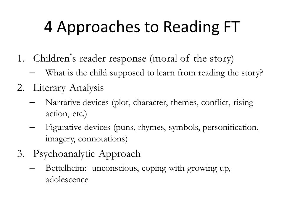 4 Approaches to Reading FT