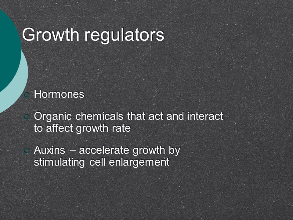 Growth regulators Hormones