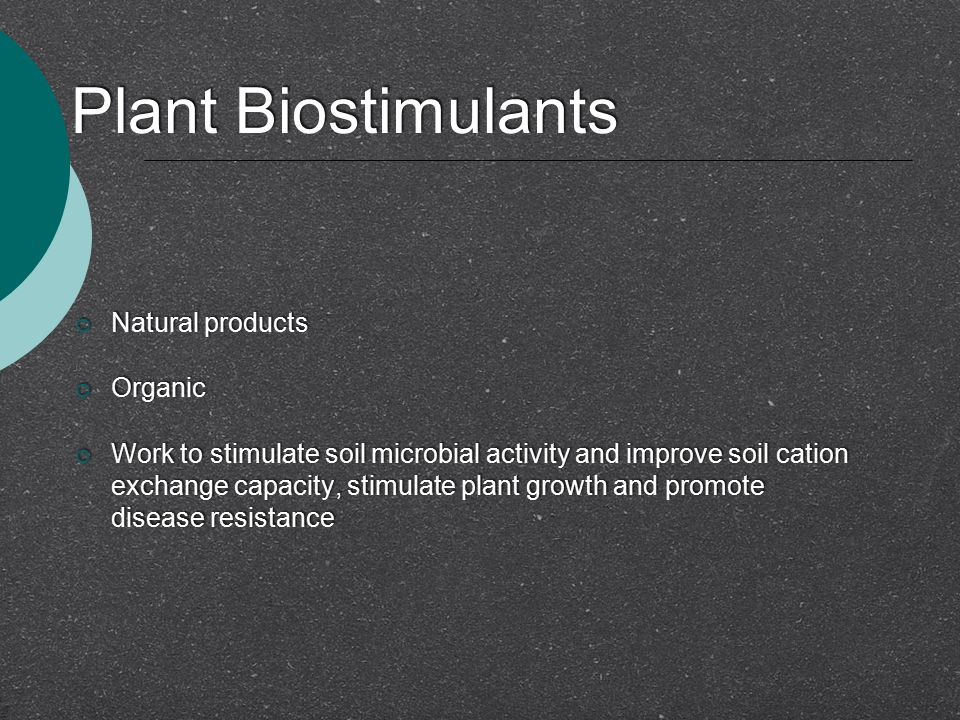 Plant Biostimulants Natural products Organic