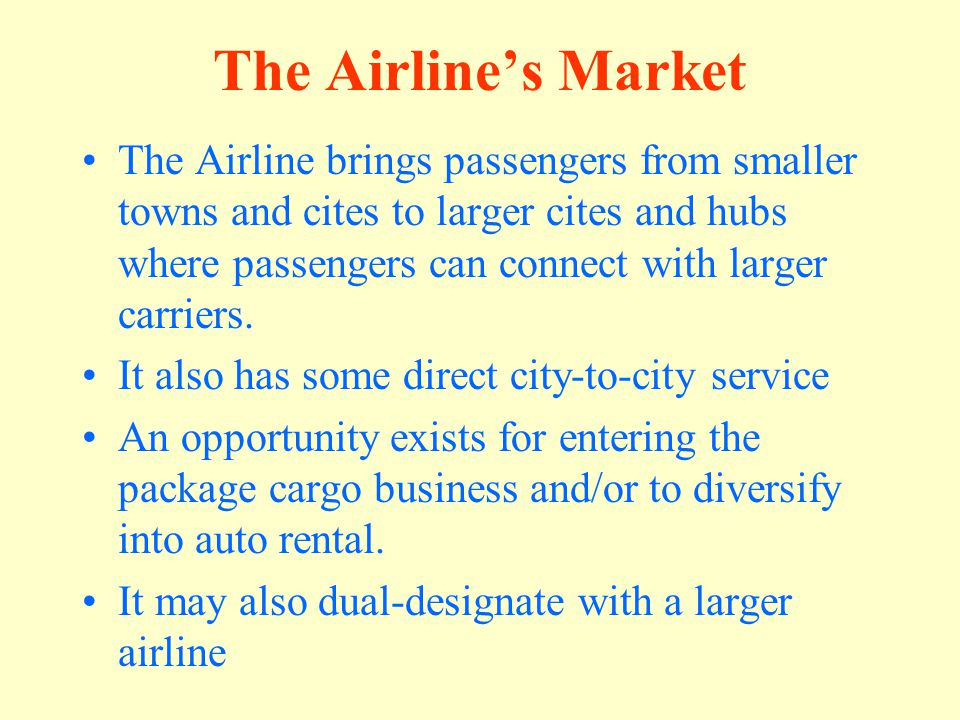 The Airline's Market