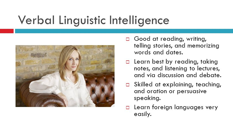 Verbal Linguistic Intelligence