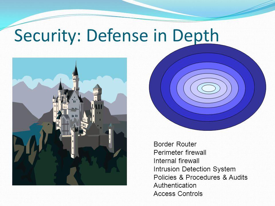 Security: Defense in Depth