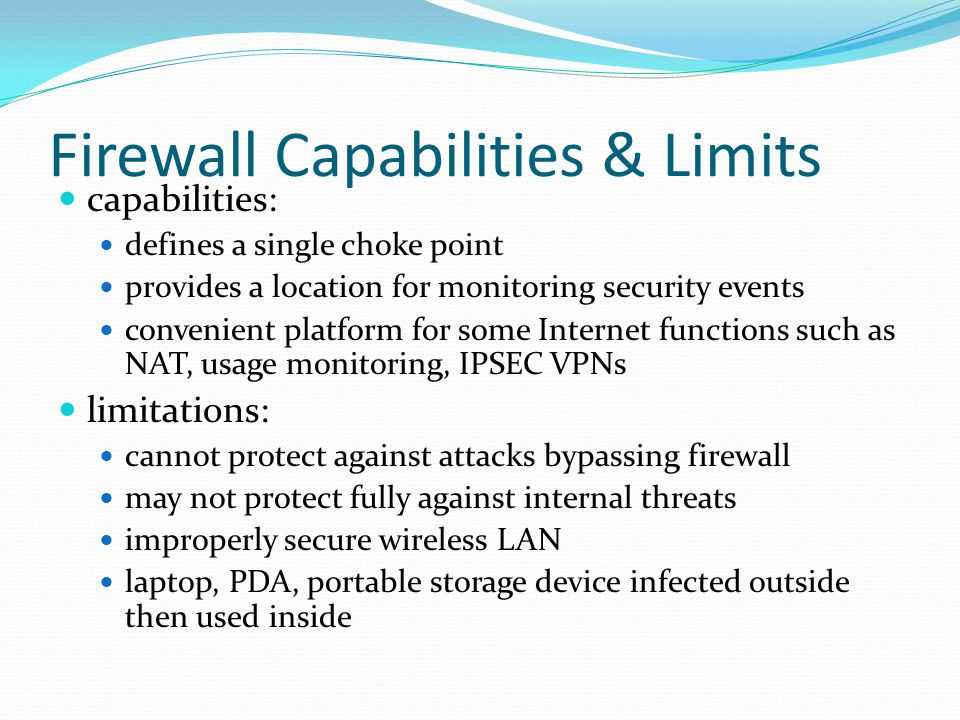 Firewall Capabilities & Limits