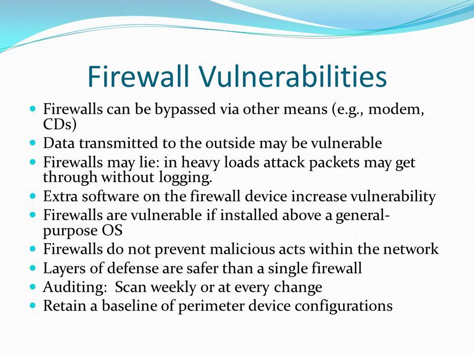 Firewall Vulnerabilities